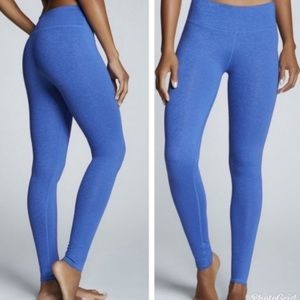 Fabletics blue low rise powerhold leggings, S